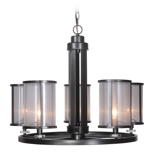 Craftmade Lighting Craftmade Danbury Matte Black Chandelier 36725-MBK