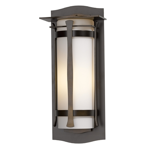 Hubbardton Forge Lighting Hubbardton Forge Lighting Sonoran Mahogany Outdoor Wall Light 307110-03-G249
