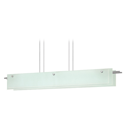Sonneman Lighting Sonneman Lighting Suspended Satin Nickel LED Pendant Light with Rectangle Shade 3219.13LED