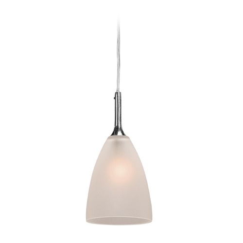 Access Lighting Access Lighting Delta Brushed Steel Mini-Pendant Light with Bowl / Dome Shade 97119-BS/FST