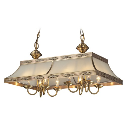 Elk Lighting Elk Lighting Conley Brushed Brass Island Light with Rectangle Shade 22041/8