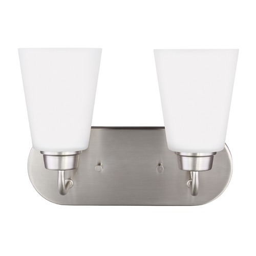 Sea Gull Lighting Sea Gull Kerrville Brushed Nickel Bathroom Light 4415202-962
