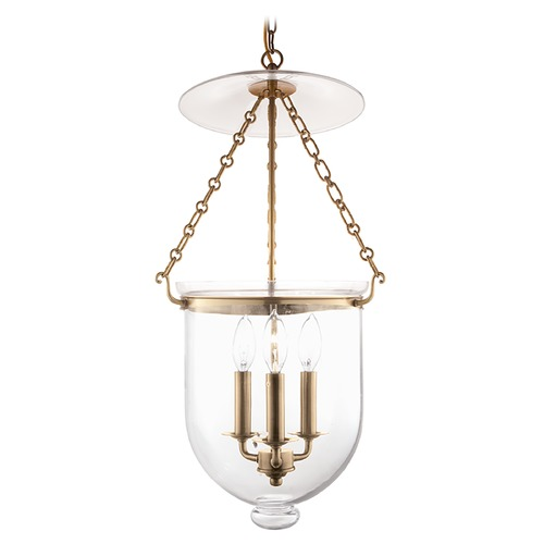 Hudson Valley Lighting Hudson Valley Lighting Hampton Aged Brass Pendant Light with Bowl / Dome Shade 254-AGB-C1