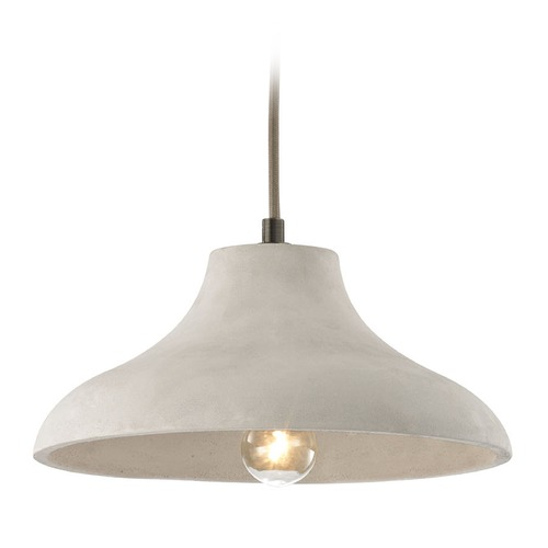 Elk Lighting Elk Lighting Urban Form Black Nickel Pendant Light with Bowl / Dome Shade 45333/1