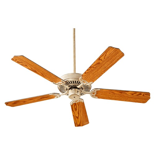 Quorum Lighting Quorum Lighting Capri I Aged Silver Leaf Ceiling Fan Without Light 77525-60