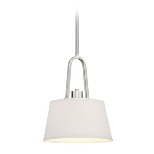 Designers Fountain Lighting Designers Fountain Studio Satin Platinum Mini-Pendant Light with Empire Shade 88530-SP
