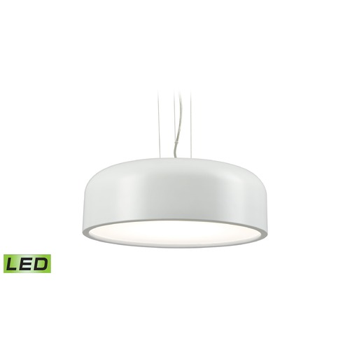 Alico Industries Lighting Alico Lighting Kore White LED Pendant Light with Bowl / Dome Shade LC2201-N-30