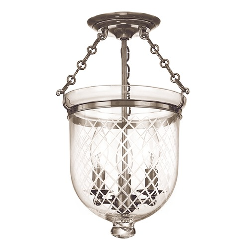 Hudson Valley Lighting Hudson Valley Lighting Hampton Historic Nickel Semi-Flushmount Light 251-HN-C2