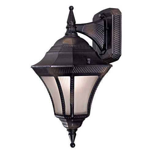 Minka Lavery Outdoor Wall Light with White Glass in Heritage Finish 8202-94-PL