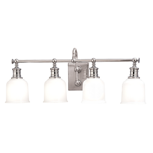 Hudson Valley Lighting Bathroom Light with White Glass in Polished Chrome Finish 1974-PC