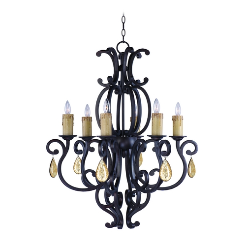 Maxim Lighting Maxim Lighting Richmond Colonial Umber Chandelier 31005CU/CRY094