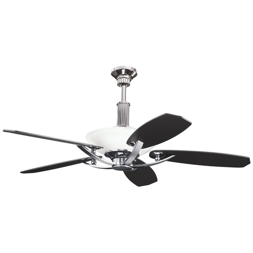 Kichler Lighting Kichler Ceiling Fan with Light Kit in Midnight Chrome Finish 300126MCH