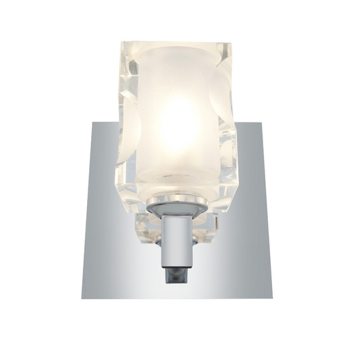 Access Lighting Modern Sconce Wall Light with White Glass in Chrome Finish 23916-CH/FCL
