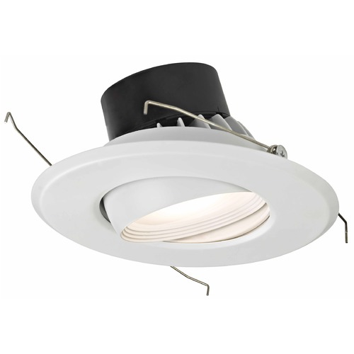 Recesso Lighting by Dolan Designs LED Adjustable Eyeball Retrofit Trim for 5 or 6 Inch Recessed Cans 3000K 1100 Lumens 10906-05