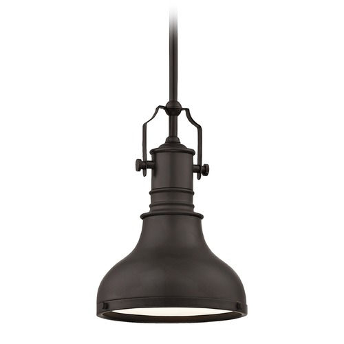 Design Classics Lighting Farmhouse Bronze Metal Pendant Light 8.63-Inch Wide 1765-220 SH1778-220 R1778-220