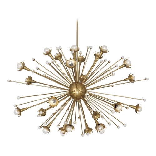 Robert Abbey Lighting Robert Abbey Jonathan Adler Sputnik 24-Light Chandelier in Antique Brass 714
