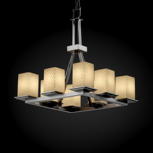 Justice Design Group Justice Design Group Fusion Collection Chandelier FSN-8666-15-WEVE-NCKL