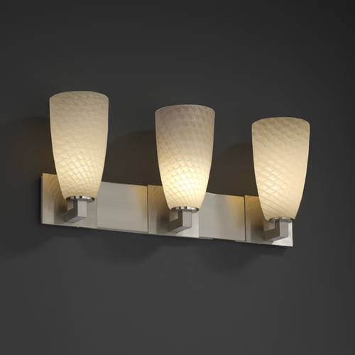 Justice Design Group Justice Design Group Fusion Collection Bathroom Light FSN-8923-28-WEVE-NCKL