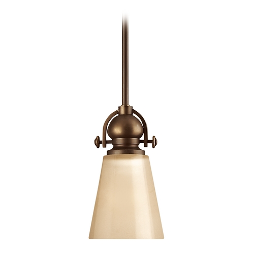 Hinkley Lighting Mini-Pendant with Cone Glass 4167OB