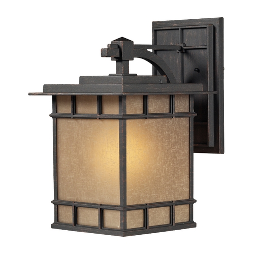 Elk Lighting LED Outdoor Wall Light with Brown Tones Glass in Weathered Charcoal Finish 45012/1-LED