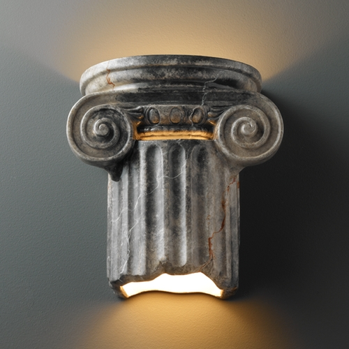 Justice Design Group Sconce Wall Light in Slate Marble Finish CER-4715-STOS