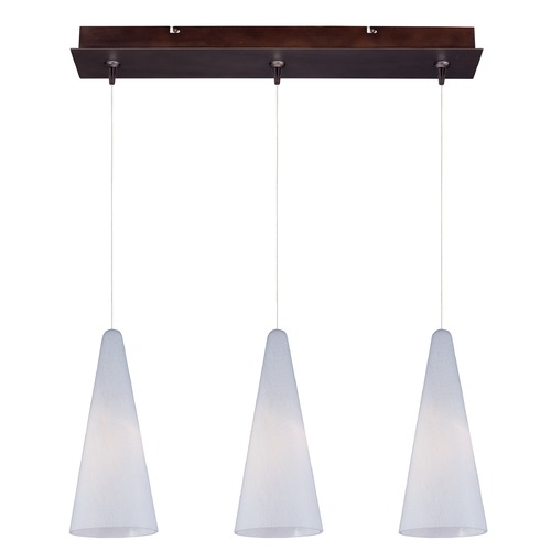 ET2 Lighting Minx Bronze Multi-Light Pendant with Conical Shade E94828-101BZ