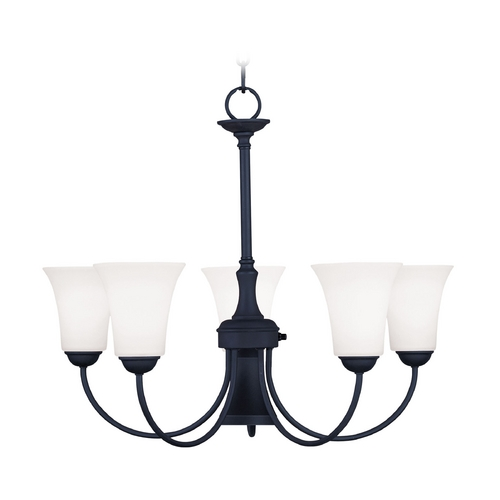Livex Lighting Livex Lighting Ridgedale Black Chandelier 6465-04