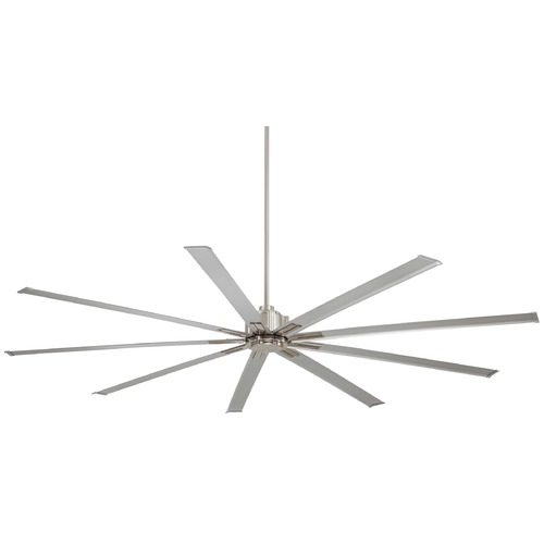 Minka Aire 96-Inch Minka Aire Xtreme Brushed Nickel Ceiling Fan Without Light F887-96-BN