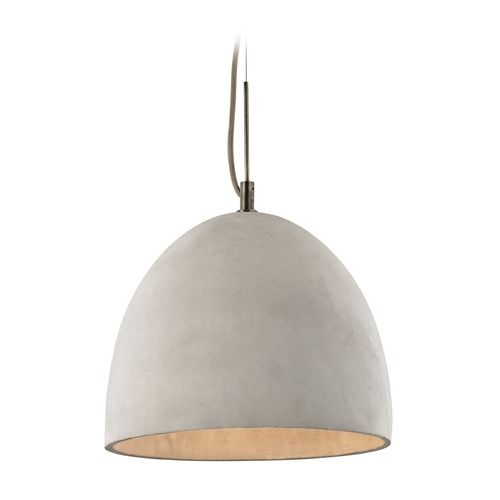 Elk Lighting Elk Lighting Urban Form Black Nickel Pendant Light with Bowl / Dome Shade 45334/1