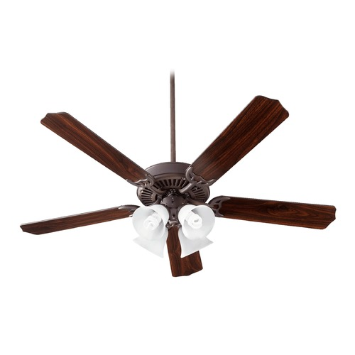 Quorum Lighting Quorum Lighting Capri V Oiled Bronze Ceiling Fan with Light 77525-8086