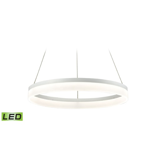 Alico Industries Lighting Alico Lighting Cycloid Matte White LED Pendant Light LC2301-N-30