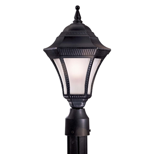 Minka Lavery Post Light with White Glass in Heritage Finish 8206-94-PL