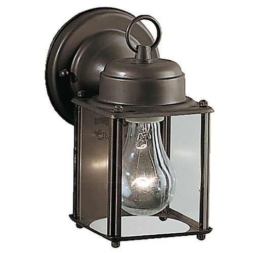 Kichler Lighting Kichler Outdoor Wall Light with Clear Glass in Olde Bronze Finish 9611OZ