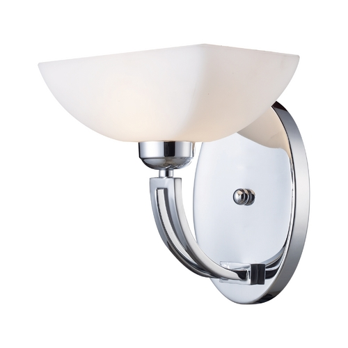 Elk Lighting Modern Sconce with White Glass in Polished Chrome Finish 10030/1
