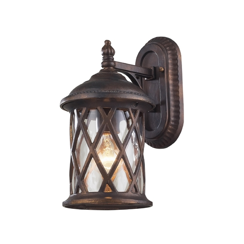 Elk Lighting Outdoor Wall Light with Clear Glass in Hazlenut Bronze Finish 42035/1