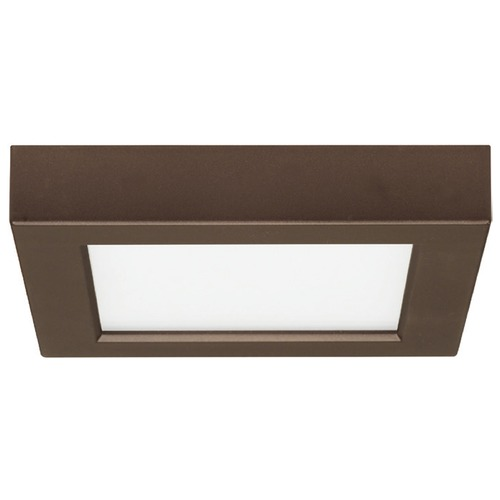 Design Classics Lighting 5-1/2-Inch Square Bronze LED Flushmount Ceiling Light - 2700K 8326-27-BZ