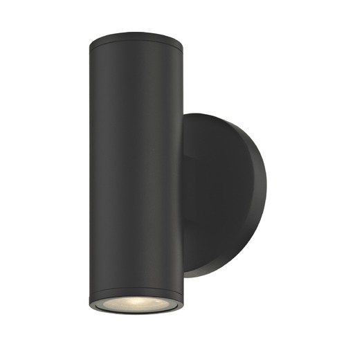 Design Classics Lighting LED Black Outdoor Wall Light Cylinder Up / Down 3000K 1770-07 S9383 LED 3000K