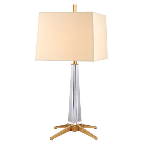 Hudson Valley Lighting Hindeman 1 Light Table Lamp Square Shade - Aged Brass L387-AGB