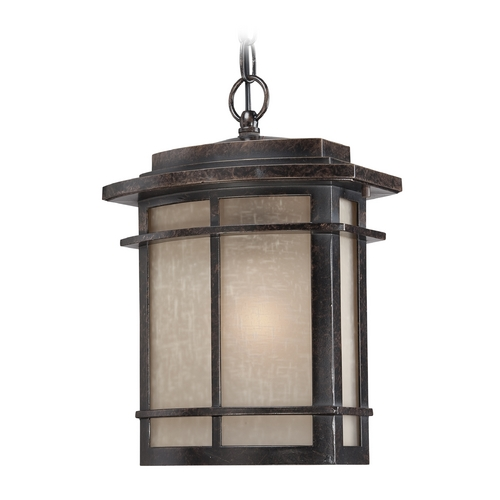 Quoizel Lighting Outdoor Hanging Light in Imperial Bronze Finish GLN1910IB