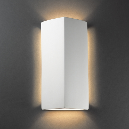Justice Design Group Sconce Wall Light in Bisque Finish CER-5145-BIS