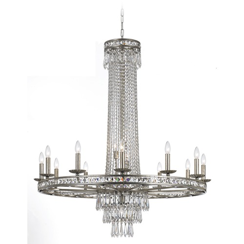 Crystorama Lighting Crystorama Lighting Mercer Olde Silver Crystal Chandelier 5269-OS-CL-MWP