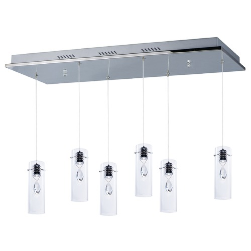 ET2 Lighting Solitaire 6-Light LED Pendant E21116-18PC
