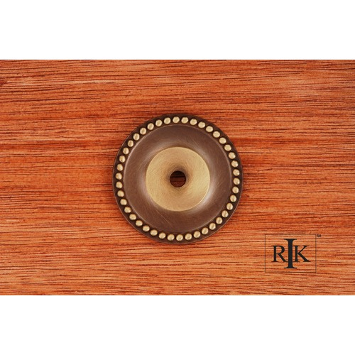 RK International Beaded Single Hole Backplate BP7822AE