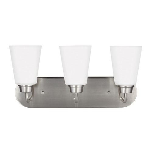 Sea Gull Lighting Sea Gull Kerrville Brushed Nickel Bathroom Light 4415203-962