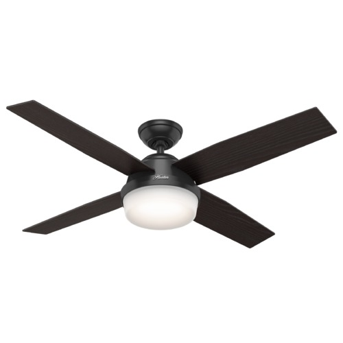 Hunter Fan Company Hunter Fan Company Dempsey Matte Black LED Ceiling Fan with Light 59251