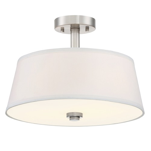 Designers Fountain Lighting Designers Fountain Studio Satin Platinum Semi-Flushmount Light 88511-SP