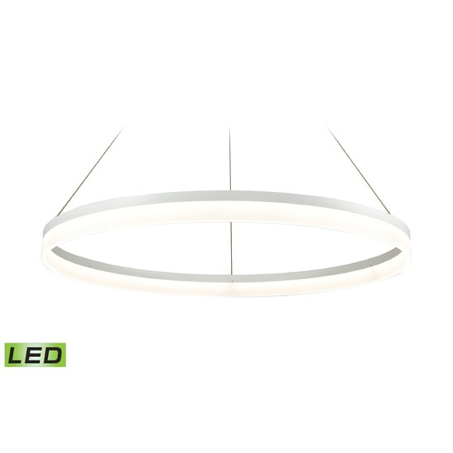 Alico Industries Lighting Alico Lighting Cycloid Matte White LED Pendant Light LC2401-N-30