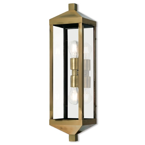 Livex Lighting Livex Lighting Nyack Antique Brass Outdoor Wall Light 20583-01
