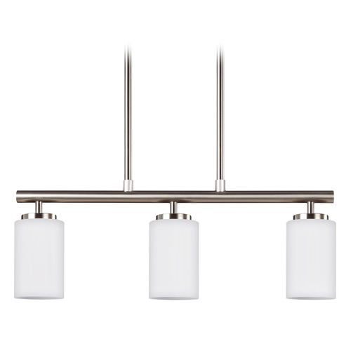 Sea Gull Lighting Wheaton - Three Light Pendant,White Tones SeaGull: 66160EN3-962 66160EN3-962