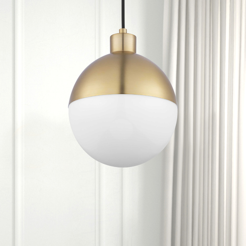 Progress Lighting Brushed Bronze LED Mini-Pendant Light with Bowl / Dome Shade 3000K 439LM P500147-109-30
